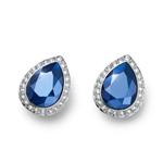 Náušnice s krystaly Swarovski Oliver Weber Kingly royal blue 22694-BLU