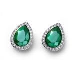 Náušnice s krystaly Swarovski Oliver Weber Kingly royal green 22694-GRE