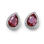 Náušnice s krystaly Swarovski Oliver Weber Kingly dark red 22694-RED