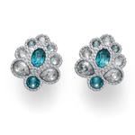 Náušnice s krystaly Swarovski Oliver Weber Clip Keen turquoise 22704R