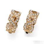 Náušnice s krystaly Swarovski Oliver Weber Clip Criss dorado 22713G