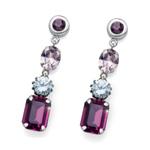 Náušnice s krystaly Swarovski Oliver Weber Vary violet 22723