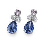 Náušnice s krystaly Swarovski Oliver Weber Jazzy violet 22724-VIO