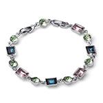 Stříbrný náramek s krystaly Swarovski Oliver Weber 32203