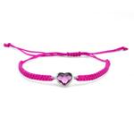Náramek s krystaly Swarovski Oliver Weber Love cord fuchsia 32205-502