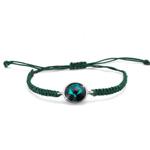 Náramek s krystaly Swarovski Oliver Weber  Easy round cord emerald 32207-205