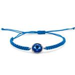 Náramek s krystaly Swarovski Oliver Weber  Easy round cord sapphire 32207-206