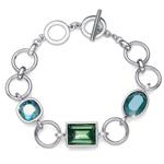 Náramek s krystaly Swarovski Oliver Weber Royal green 32208