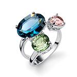 Støíbrný  prsten s krystaly Swarovski Oliver Weber 41138LXL