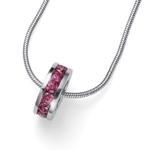 Støíbrný pøívìsek s krystaly Swarovski Oliver Weber Circle pink 61132-PIN