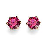 Náušnice s krystaly Swarovski Oliver Weber 62066G-RED