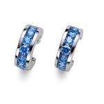 Náušnice s krystaly Swarovski Oliver Weber Circle blue 62074-BLU
