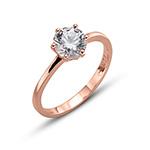 Prsten s krystaly Swarovski Oliver Weber 63222RGL