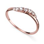 Prsten s krystaly Swarovski Oliver Weber 63227RGL