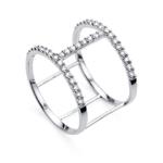Stříbrný prsten s krystaly Swarovski Oliver Weber Ring Tunnel 63230