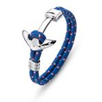 Pánský náramek s krystaly Swarovski Oliver Weber Anchor blue 67023-BLU