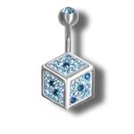 Piercing s krystaly Swarovski Dice E