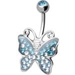 Piercing s krystaly Swarovski AXButterfly C