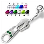 Stříbrný piercing do pupíku BP01007