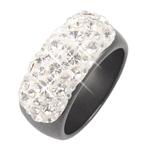 Prsten s krystaly Swarovski Hematit Crystallis Large