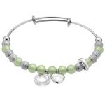 Ocelový náramek Hot Diamonds Emozioni Ula Light Green