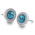 Stříbrné náušnice Hot Diamonds Emozioni Giove Turquoise