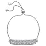 Støíbrný náramek Hot Diamonds Crystal Triple Row Clear
