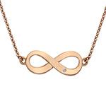 Stříbrný náhrdelník Hot Diamonds Infinity Rose Gold