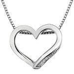 St��brn� p��v�sek Hot Diamonds Simply Sparkle Open Heart