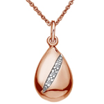 Stříbrný přívěsek Hot Diamonds Shooting Stars Teardrop Rose Gold