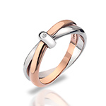 Støíbrný prsten Hot Diamonds Eternity Vermeil
