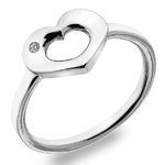 Stříbrný prsten Hot Diamonds Emerge Heart