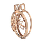 Stříbrný přívěsek Hot Diamonds Emozioni Vita Rose Gold Plated Coin Keeper EK042