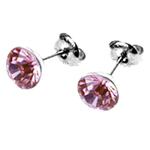 Náušnice s krystaly Swarovski ESSW11-ROSE