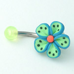 www.piercing-sperky.cz : Piercing kytka FBF 02