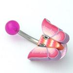 www.piercing-sperky.cz : Piercing motýlek FBU02 viollet