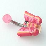 www.piercing-sperky.cz : Piercing motýlek FBU02 rose