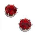 Náušnice s krystaly Swarovski Red
