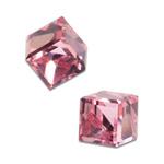 Náušnice s krystaly Swarovski Poezia Pink