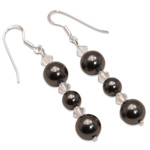 Náušnice s perlami Sunlit Pearl Black II