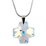 Stříbrný náhrdelník s krystalem Swarovski Cross Crystal