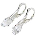 Stříbrné náušnice s krystaly Swarovski Polygon Crystal