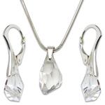 Stříbrná sada s krystaly Swarovski Polygon Crystal