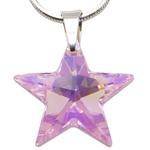 Stříbrný náhrdelník s krystalem Swarovski Star Rosaline
