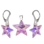 Stříbrný set s krystaly Swarovski Star Rosaline