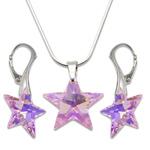 Stříbrná sada s krystaly Swarovski Star Rosaline