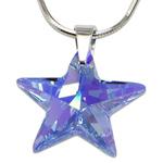 Stříbrný náhrdelník s krystalem Swarovski Star Sapphire