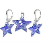 Stříbrný set s krystaly Swarovski Star Sapphire