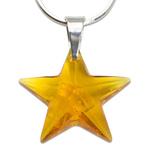 Stříbrný náhrdelník s krystalem Swarovski Star Topaz