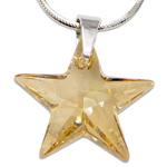Stříbrný náhrdelník s krystalem Swarovski Star Golden Shadow